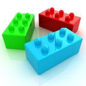 Building blocks on white  — Stock Photo