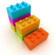Building blocks efficiency concept on white  — Stock Photo #44033279