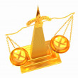 Gold scales of justice — Stock Photo #47873759