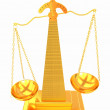 Gold scales of justice — Stock Photo #47876107