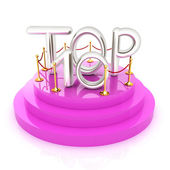 Top ten icon on white background. 3d rendered image  — Stock Photo