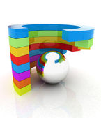 Abstract colorful structure with ball in the center — Stock Photo