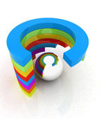 Struttura colorato astratto con palla al centro — Foto Stock