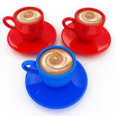 Mugs with coffe — Stock Photo