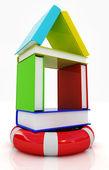 Dům knihy na životnosti — Stock fotografie