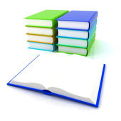 Colorful real books — Stock Photo
