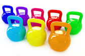 Colorful weights  — Stok fotoğraf