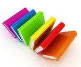 Kolorowe prawdziwe książki — Zdjęcie stockowe
