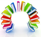 Colorful books like the rainbow — Stock Photo