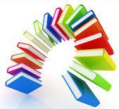 Colorful books like the rainbow  — Stock Photo