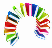 Colorful books like the rainbow  — Photo
