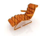 Comfortable wooden Sun Bed — Stock Photo