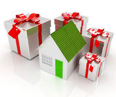 House and gifts — ストック写真