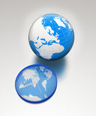 Clock of world map and earth — Stock Photo