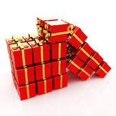 Bright christmas gifts — Foto de Stock