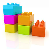 Building blocks efficiency concept on white — Stock Photo