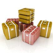Travel bags on white  — Stock Photo