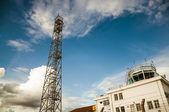 Gibraltar Airport Antenna — Stock Photo