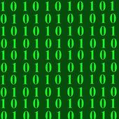 Kod binarny — Zdjęcie stockowe
