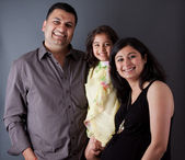 Happy East Indian Family — Stock Photo