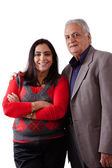 East Indian Father and Daughter — Stock Photo