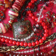 Red background - jewerly — Stock Photo #8502283