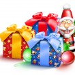 Whimsical Christmas Gifts and Nutcracker - Stock Photo