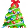 Whimsical Cartoon Christmas Tree — Stock Photo #12600532