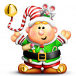 Whimsical Cartoon Christmas Elf — Stock Photo #12600543