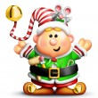 Stock Photo: Whimsical Cartoon Christmas Elf