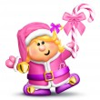 Stock Photo: Whimsical Cartoon Girl Elf