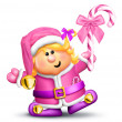 Whimsical Cartoon Girl Elf — Stock Photo #12600561
