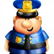 Whimsical Cartoon Policeman — Stock fotografie #12600576