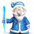 Whimsical Cartoon Jack Frost — Stock Photo