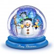 Stock Photo: Whimsical Cartoon SnowmSnow Globe
