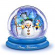 Whimsical Cartoon SnowmSnow Globe — Stock Photo #12600629