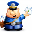 Stock Photo: Whimsical Cartoon Mailman
