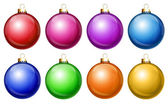 Illustrated Shiny Christmas Balls — Stock Photo
