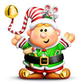 Whimsical Cartoon Christmas Elf — Stock Photo