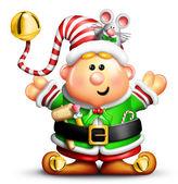 Whimsical Cartoon Christmas Elf — Stock Photo