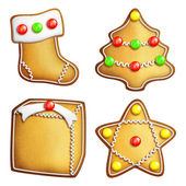 Muhtelif zencefilli kurabiye — Stok fotoğraf