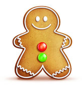 Cartoon Gingerbread Man — Stock Photo