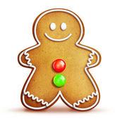 Cartoon Gingerbread Man — Stock Photo