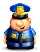 Whimsical Cartoon Policeman — Stock Photo
