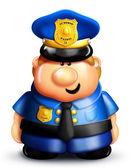 Policier fantasque de dessin animé. — Photo