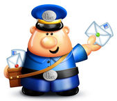 Whimsical Cartoon Mailman — Stock Photo