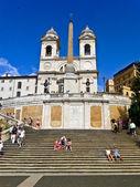 площадь испании рим — Стоковое фото