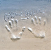 Handprint Cannes — Stock Photo