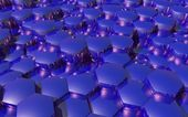 3d background with hexagons — Stockfoto