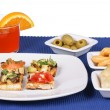 Appetizer and aperitif — Stock Photo